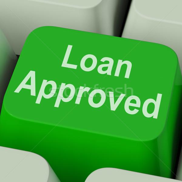 Kölcsön elismert kulcs kredit megállapodás mutat Stock fotó © stuartmiles