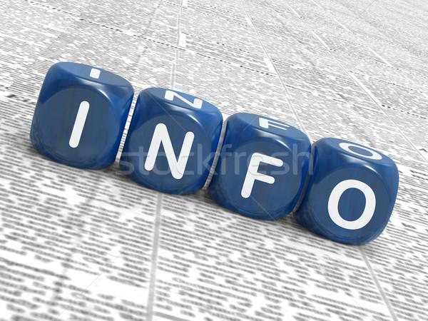 Információ kocka tudás adat jelentés Stock fotó © stuartmiles