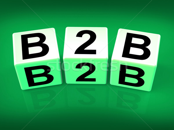 B2B Blocks Refer to Business Commerce or Selling Stock photo © stuartmiles