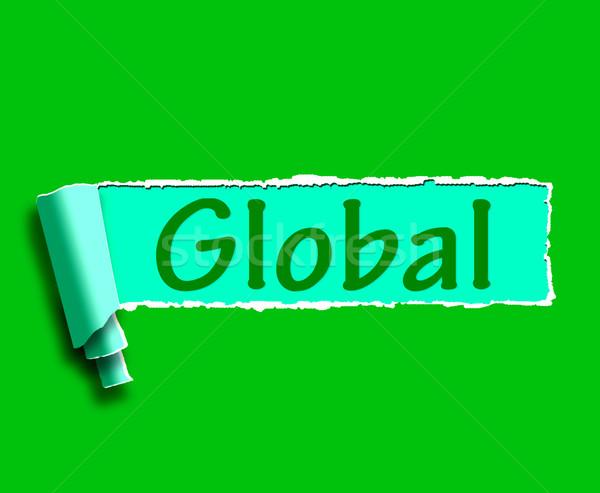 Globalny słowo światowy świecie Zdjęcia stock © stuartmiles