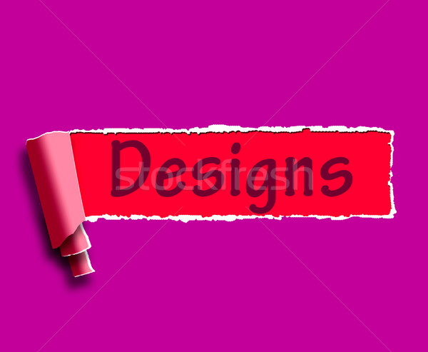 Designs Word Means Web Designing And Planning Stock photo © stuartmiles