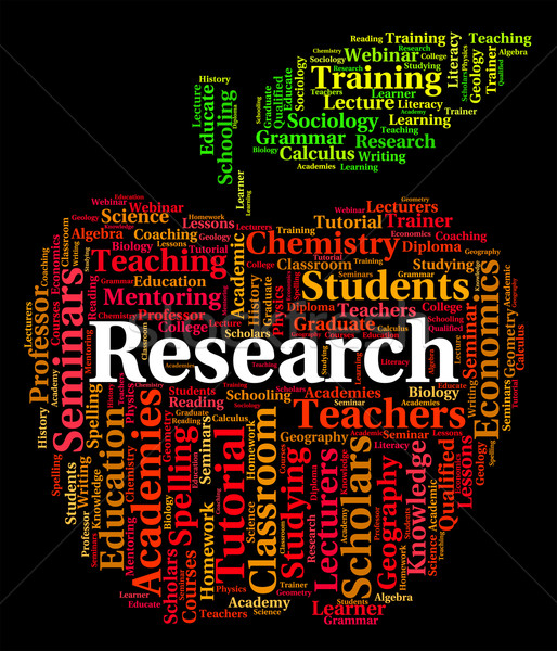Research Word Shows Gathering Data And Analyse Stock photo © stuartmiles