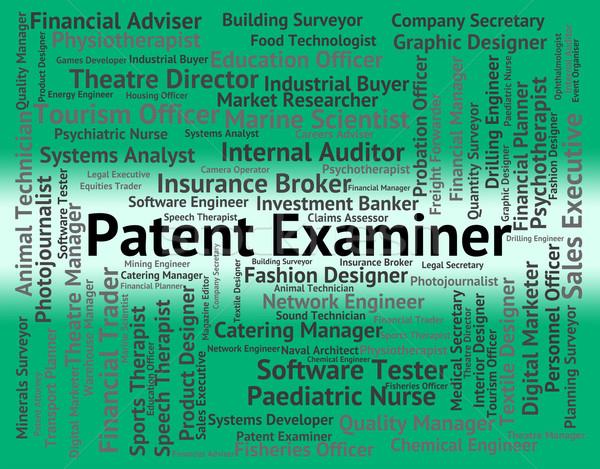 патент эксперт право аналитик сотрудник Сток-фото © stuartmiles