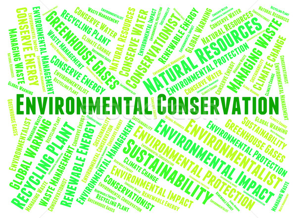Environmental Conservation Indicates Earth Day And Conserve Stock photo © stuartmiles