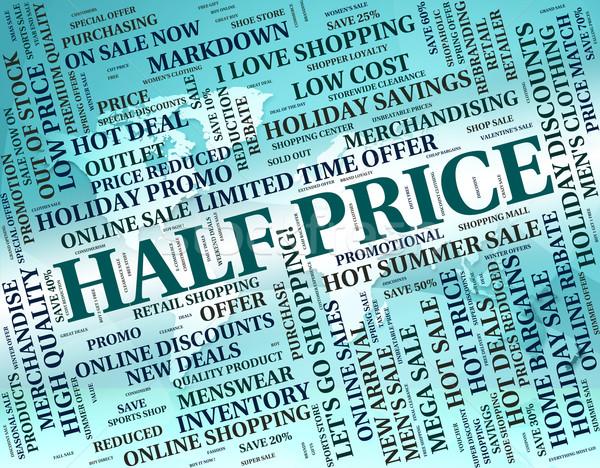 Vijftien procent af half prijs spaargeld Stockfoto © stuartmiles