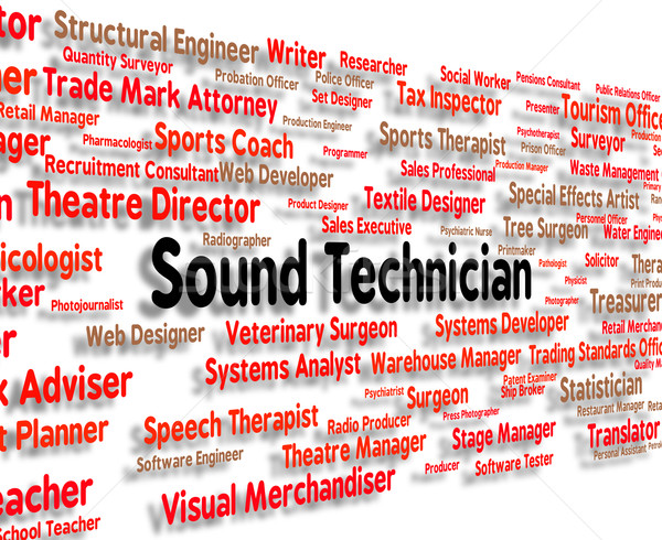 Sound Technician Shows Skilled Worker And Audio Stock photo © stuartmiles