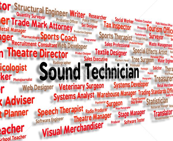 Ses teknisyen yetenekli işçi ses uzman Stok fotoğraf © stuartmiles