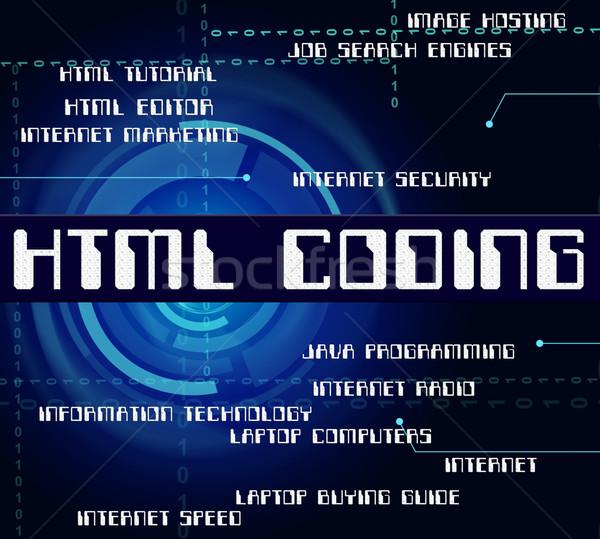 Html kódolás hipertext nyelv mutat szoftver Stock fotó © stuartmiles
