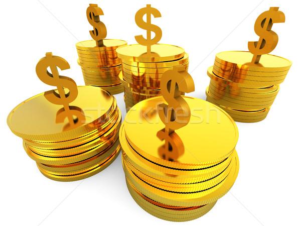 Dollars Cash Means Money Bank And Finance Stock photo © stuartmiles