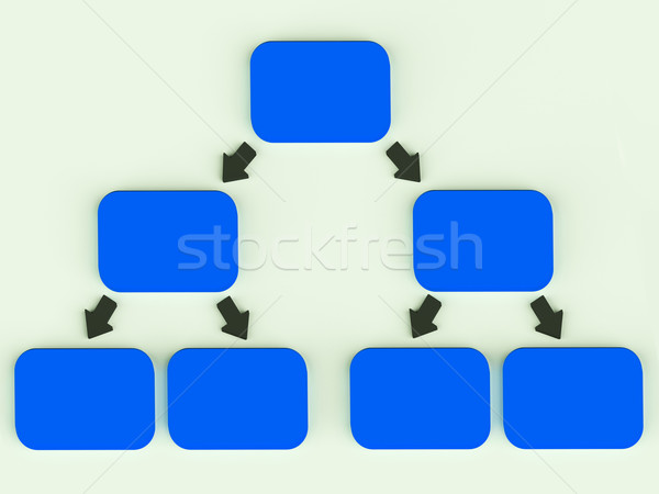Hierarchyl Diagram With Arrows Showing Parent And Children Assoc Stock photo © stuartmiles