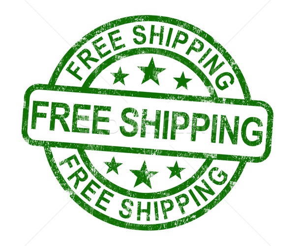 Free Shipping Stamp Showing No Charge Or Gratis To Deliver Stock photo © stuartmiles