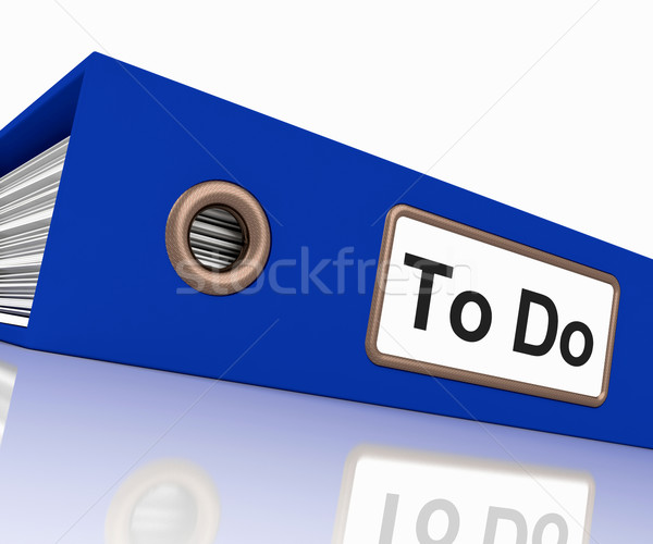 To Do File For Organizing Tasks Stock photo © stuartmiles