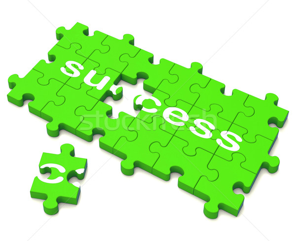 Success Puzzle Shows Attainment Of Wealth  Stock photo © stuartmiles