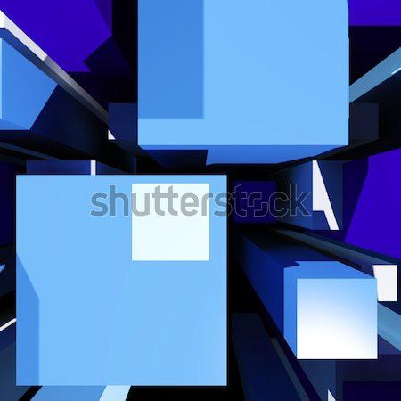 Tonen futuristische perspectief meetkundig Stockfoto © stuartmiles