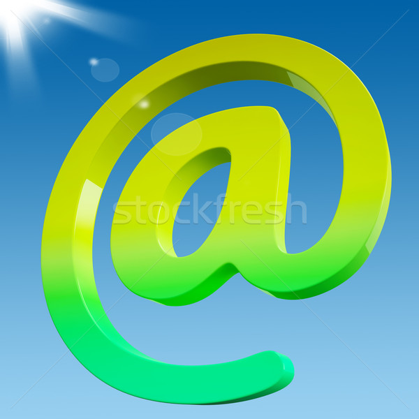 At Sign Shows Online Mailing Communication Icon Stock photo © stuartmiles