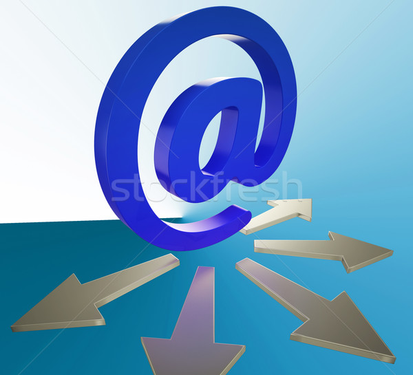 Email Arrows Shows Information Mailed To Addresses Stock photo © stuartmiles