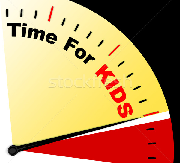 Time For Kiids Message Shows Playtime Or Starting Family Stock photo © stuartmiles