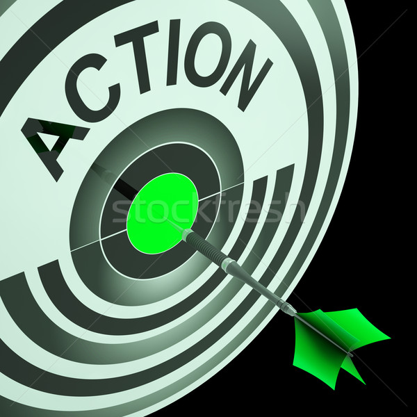 Action Shows Emergency Urgent Or Motivating Act Stock photo © stuartmiles