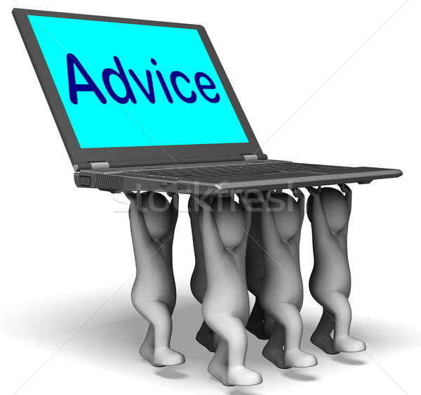 Advice Character Laptop Means Guidance Recommended Or Suggested