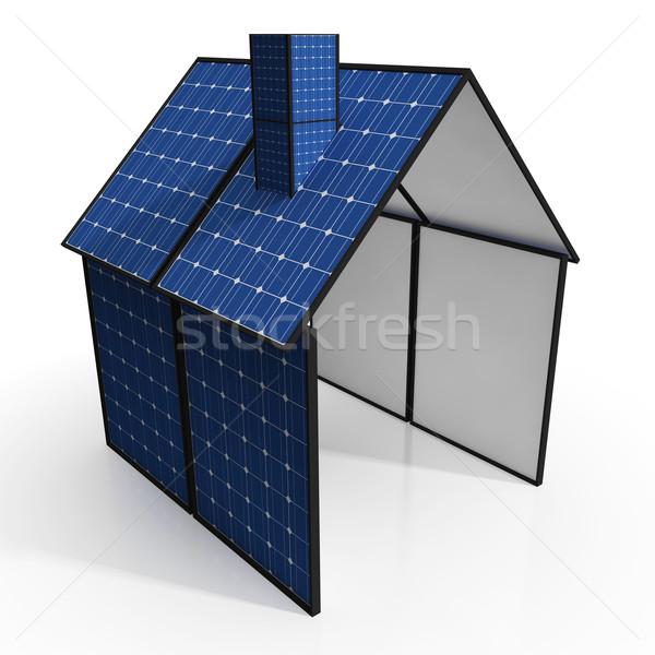Napelem ház megújuló energia erő otthon elektromosság Stock fotó © stuartmiles
