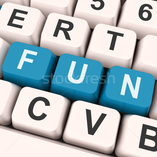 Fun Keys Show Enjoyable Exciting Or Pleasing