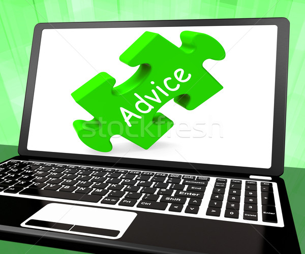 Advice Laptop Means Guidance Advising Or Suggest