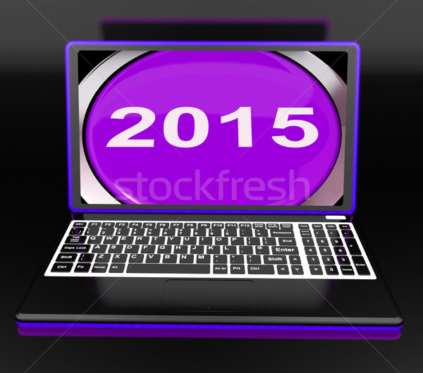 Two Thousand And Fifteen On Laptop Shows New Year 2015 Stock photo © stuartmiles