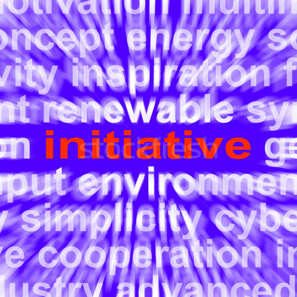 Initiatief woord motivatie leiderschap actie Stockfoto © stuartmiles