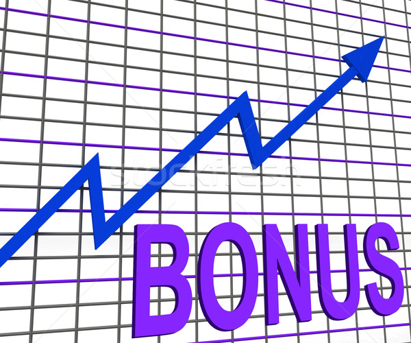 Bonus Chart Graph Shows Increase Reward Or Perk Stock photo © stuartmiles