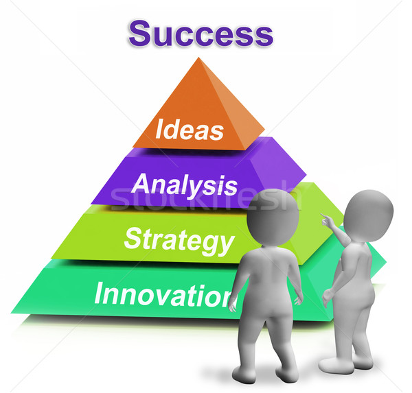 Success Pyramid Shows Accomplishment Progress Or Successful Stock photo © stuartmiles