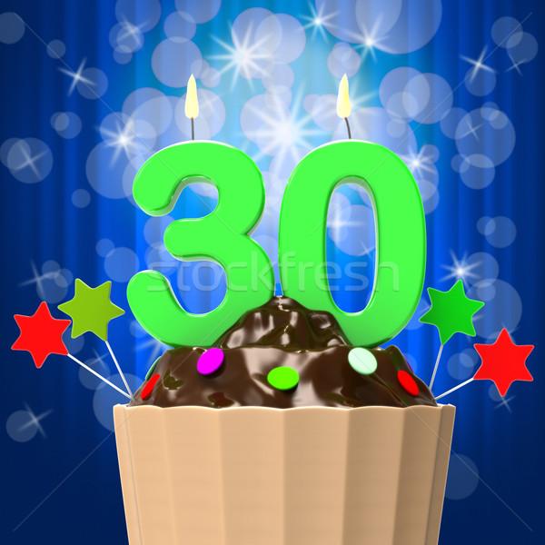 Trinta vela doce celebração evento Foto stock © stuartmiles