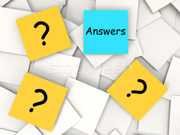 Domande risposte note soluzioni significato Foto d'archivio © stuartmiles