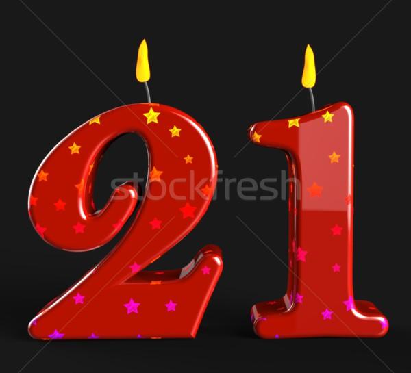 Número veinte uno velas adulto celebración Foto stock © stuartmiles