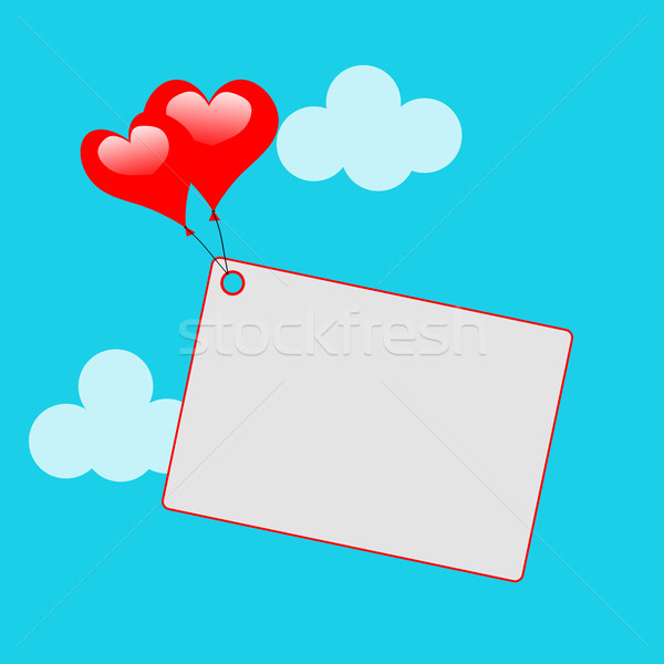Coeur ballons note sweet invitation affection Photo stock © stuartmiles