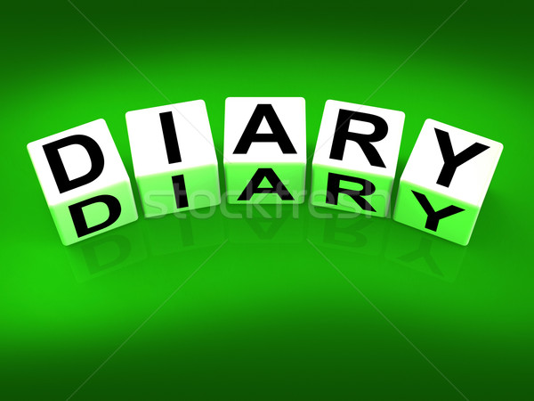 Diary Blocks Mean Journal Blog or Autobiographical Record Stock photo © stuartmiles