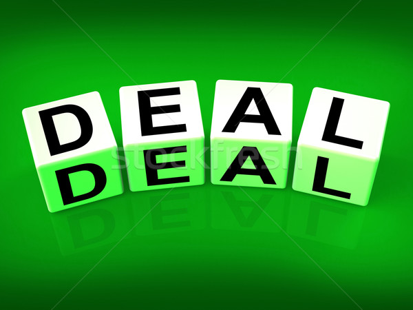 Deal Blocks Show Dealings Transactions and Agreements Stock photo © stuartmiles