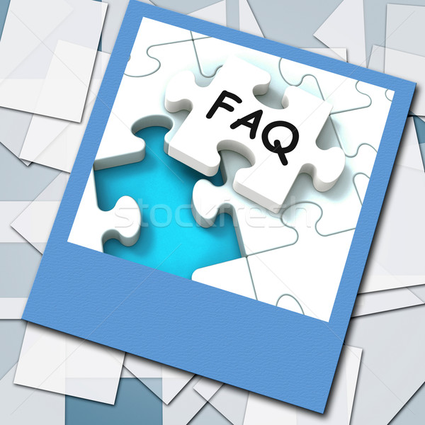 FAQ Photo Means Website Questions And Solutions Stock photo © stuartmiles