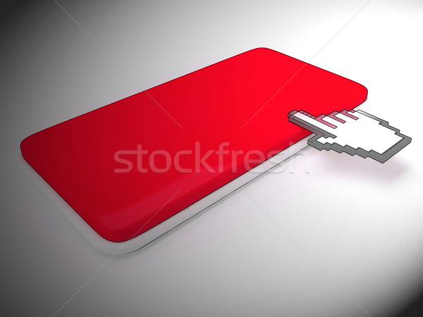 Imleç el anahtar bo Stok fotoğraf © stuartmiles