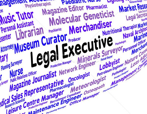 Juridische uitvoerende directeur tonen raad Stockfoto © stuartmiles