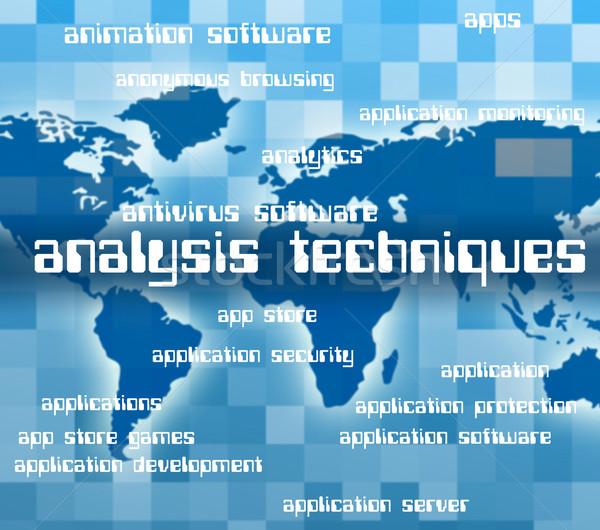 Foto stock: Análise · dados · analítica · pesquisa · texto