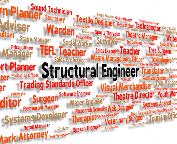 Structural Engineer Indicates Position Words And Construct Stock photo © stuartmiles