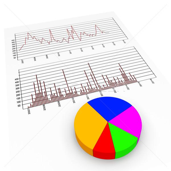 Graph Report Means Biz Trade And Diagram Stock photo © stuartmiles
