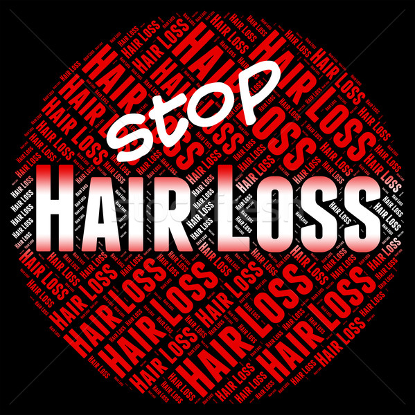 Stop Hair Loss Means Stopped Danger And No Stock photo © stuartmiles