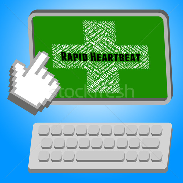 Rapid Heartbeat Means Pulse Trace And Disorders Stock photo © stuartmiles