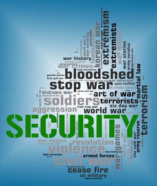 Security Word Shows Encrypt Password And Wordcloud Stock photo © stuartmiles