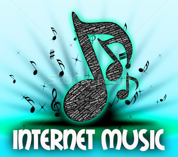 Internet Music Means World Wide Web And Acoustic Stock photo © stuartmiles