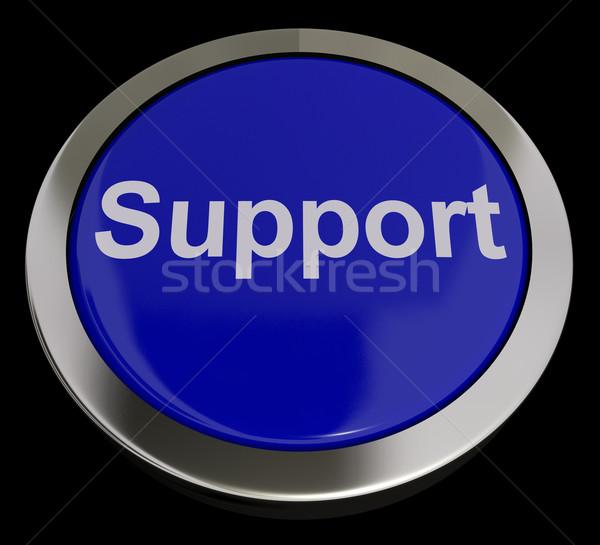 Unterstützung Taste blau helfen Hilfe Stock foto © stuartmiles