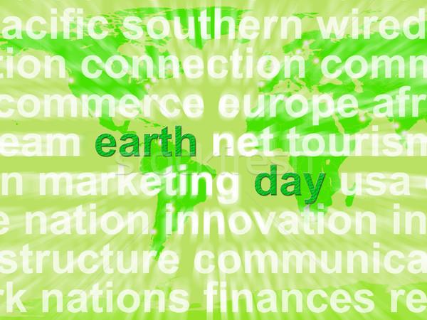 Dzień ziemi słowa środowiskowy troska ochrona Zdjęcia stock © stuartmiles