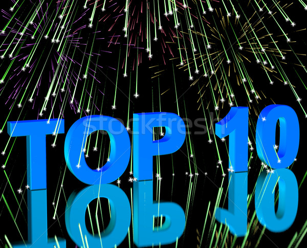 Top Ten Word And Fireworks Showing Best Rated In Charts Stock photo © stuartmiles