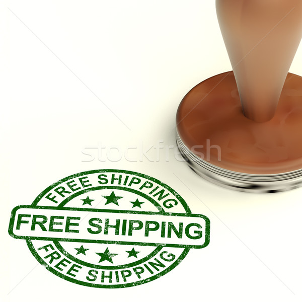 Free Shipping Stamp Shows No Charge Or Gratis To Deliver Stock photo © stuartmiles